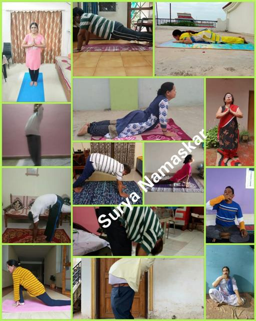 Suryanamaskar on International YOGA day